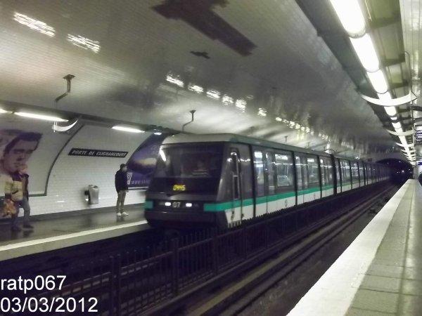 Ligne m tro 4 le mp89 cc n 07 porte de clignancourt blog de ratp067 - Metro porte de clignancourt ...